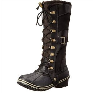 Sorel Black Lace Up Boots Sz 7